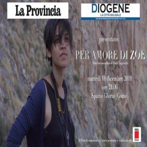 Per amore di Zoe - il Docufilm del Liceo Ciceri @ Cinema Gloria