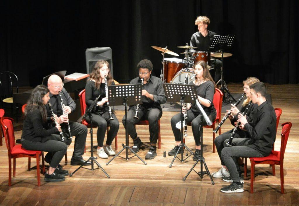 L'ensemble di clarinetti del Liceo Ciceri